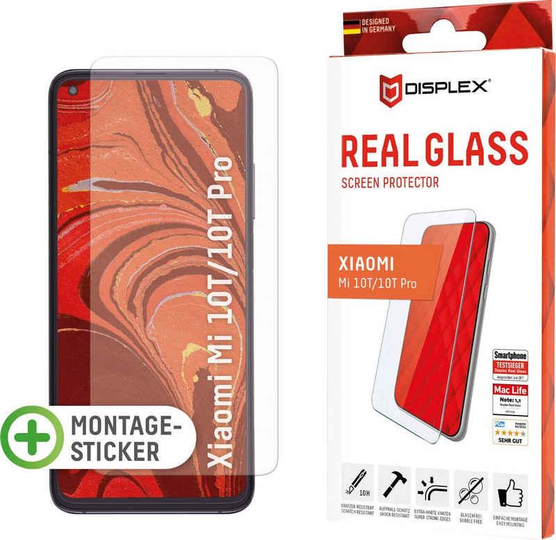 Displex »DISPLEX Real Glass Panzerglas für Xiaomi Mi 10T/Mi 10T Pro (6,7), 10H Tempered Glass, mit Montagesticker, 2D« für Xiaomi Mi 10T, Xiaomi Mi 10T Pro, Displayschutzglas, 1 Stück