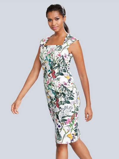 Alba Moda Etuikleid in floralem Dessin