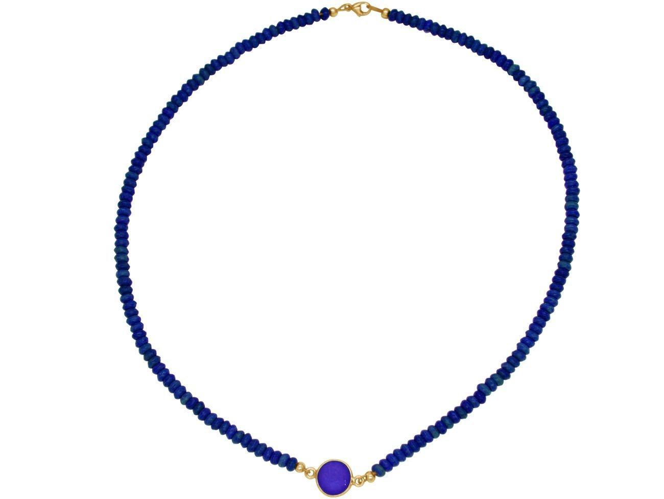 gemshine -  Collier »Choker blauer Saphir und Lapis Lazuli«, Made in Germany