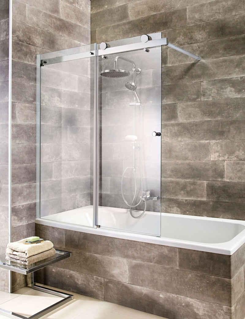 welltime Badewannenaufsatz »Mauritius«, Einscheibensicherheitsglas, (1 tlg), mit Schiebetür