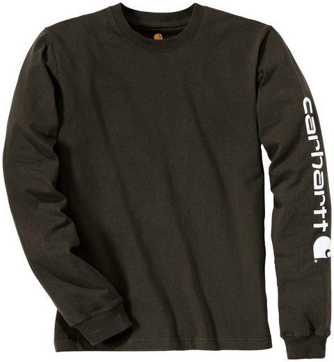 CARHARTT T-Shirt »SLEEVE LOGO T-SHIRT L/S«, PEAT, mit Ärmel - Logo
