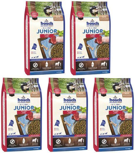 Bosch Petfood Trockenfutter »Junior Lamm und Reis«, 5 Beutel á 1 kg