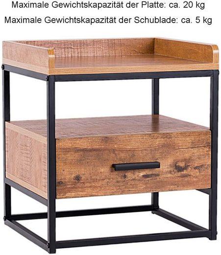 COSTWAY Beistelltisch »Beistelltisch«  mit Schublade