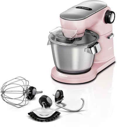 BOSCH Küchenmaschine MUM9A66N00 OptiMUM, 1600 W, 5,5 l Schüssel, Profi-Patisserie-Set, Planetenrührwerk, pastelrosé