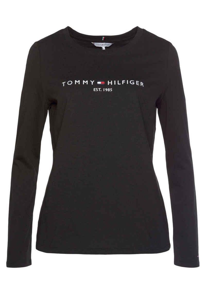 Tommy Hilfiger Rundhalsshirt »REGULAR HILFIGER C-NK TEE LS« mit Logo-Stickerei