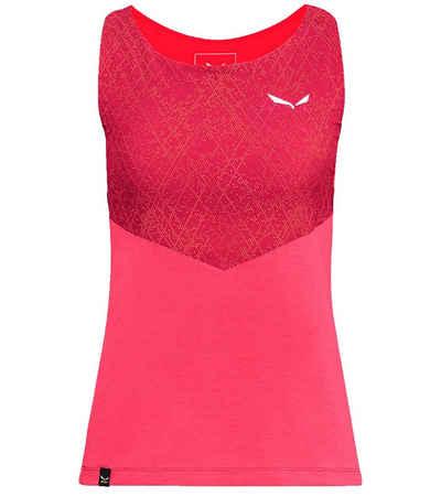 Salewa Tanktop »Salewa Agner Hyb Dst Tanktop sportlich geschnittenes Damen Funktions-Shirt mit integriertem BH Wander-Shirt Rot«