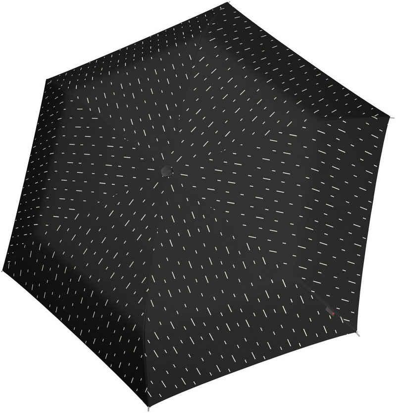 Knirps® Taschenregenschirm »U.200 Ultra Light Duomatic, rain black«