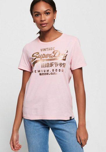 Superdry Print-Shirt »PREMIUM GOODS PUFF FOIL INFILL ENTRY TEE«
