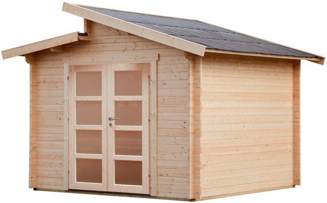 WOLFF FINNHAUS Gartenhaus »Bornholm 40-B Typ 5«, BxT: 360x360 cm, inkl. Fußboden | Garten > Bodenbeläge-Garten | Wolff