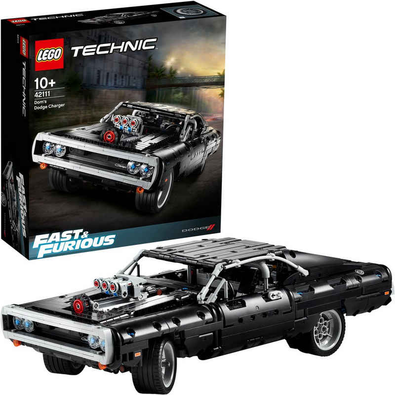LEGO® Konstruktionsspielsteine »Dom's Dodge Charger (42111), LEGO® Technic«, (1077 St)