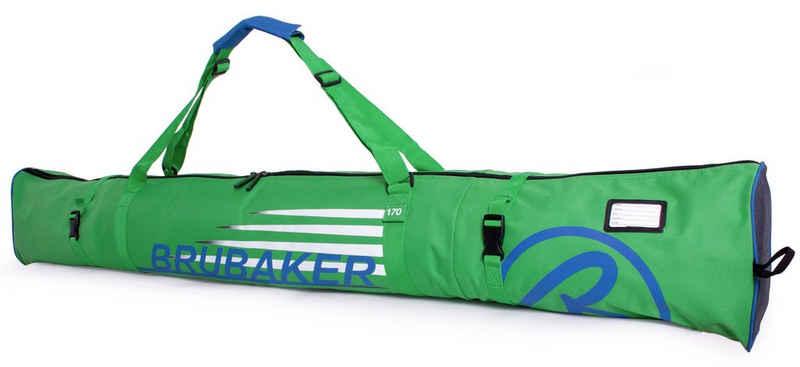 BRUBAKER Sporttasche »Carver Champion Skitasche Grün« (1-tlg., reißfest und schnittfest), gepolsterter Skisack mit Zipperverschluss