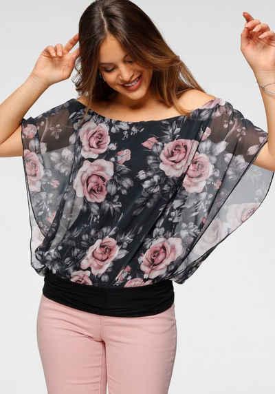 Melrose Shirtbluse mit bedrucktem Chiffon - NEUE KOLLEKTION