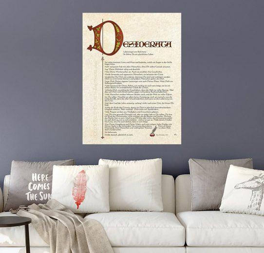 Posterlounge Wandbild, Desiderata II
