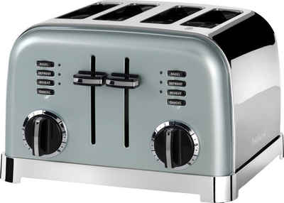 Cuisinart Toaster CPT180GE, für 4 Scheiben, 1800 W, mit 6 Bräunungsstufen und Auftau-, Aufwärm- und Stop-Funktion, extra breite Toastschlitze, Retro Design
