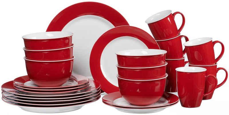 Ritzenhoff & Breker Kombiservice »Doppio« (24-tlg), Porzellan, in attraktiven Farbvarianten