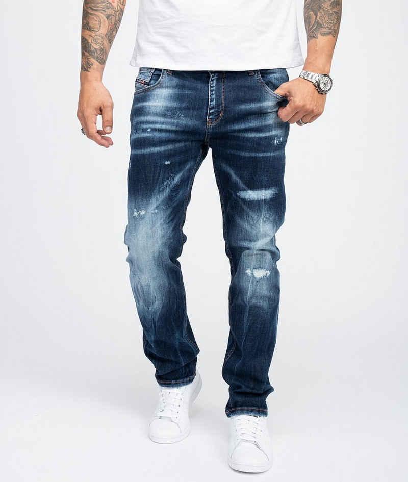 Rock Creek Regular-fit-Jeans »Herren Jeans Stonewashed Dunkelblau RC-3104«