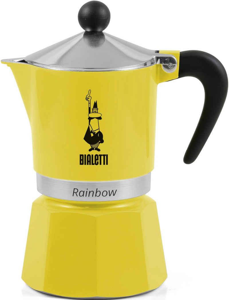 BIALETTI Espressokocher Rainbow, 0,27l Kaffeekanne, Aluminium