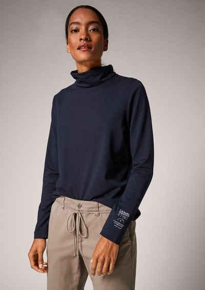 comma casual identity Langarmshirt »Jerseyshirt mit Rollkragen« (1-tlg)