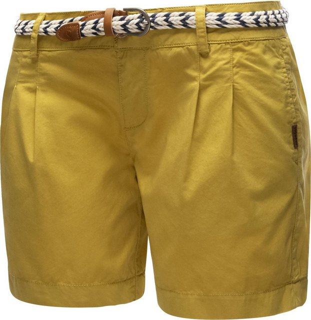 Hosen - Ragwear Shorts »Tetto Organic« (2 tlg) leichte kurze Baumwollhose mit modischem Flechtgürtel › braun  - Onlineshop OTTO