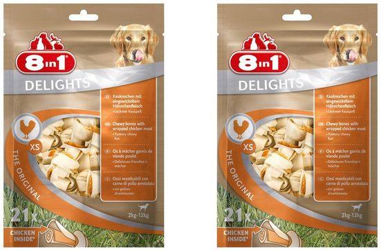 8in1 Kauknochen »Delights XS«, 2x 21 Stück