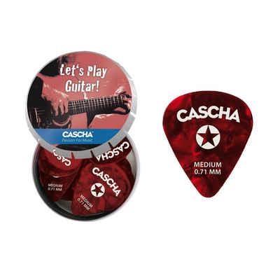 Cascha Plektrum »Gitarren Plektrum Set Medium«, 24 Stück in Metallbox