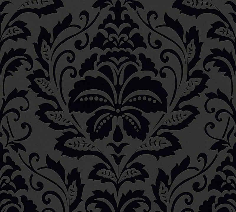 living walls Vliestapete »Black & White«, Barock, mit Ornamenten