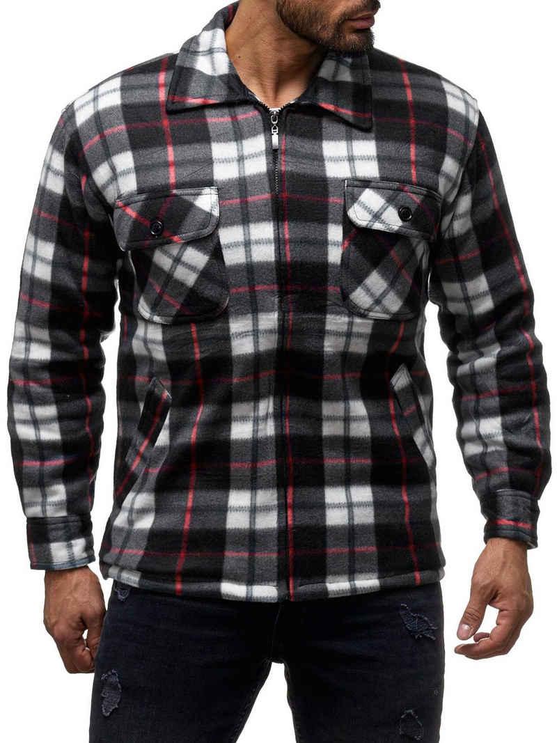 Egomaxx Blouson »2575« Herren Thermohemd JOEY Holzfäller Jacke Fleece Flanell Workwear