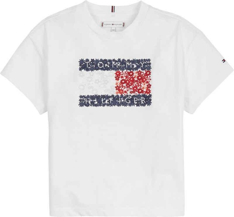 Tommy Hilfiger T-Shirt »FLOWER FLAG TEE S/S« mit Blumenlogo