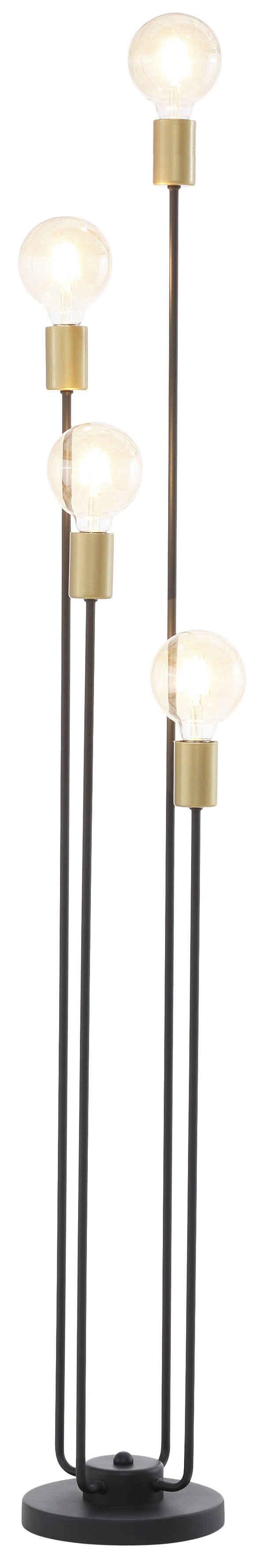 Leonique Stehlampe »Jarla«, Stehleuchte mit goldfarbenen Fassungen, Höhe 137 cm