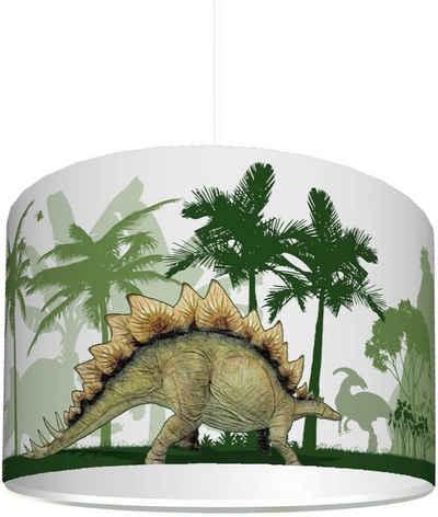 """STIKKIPIX Lampenschirm »KL57«, Kinderzimmer Lampenschirm """"Dinosaurier"""", kinderleicht eine Dino Lampe erstellen, als Steh- oder Hängeleuchte/Deckenlampe, perfekt für Dinosaurier-begeisterte Jungen"""