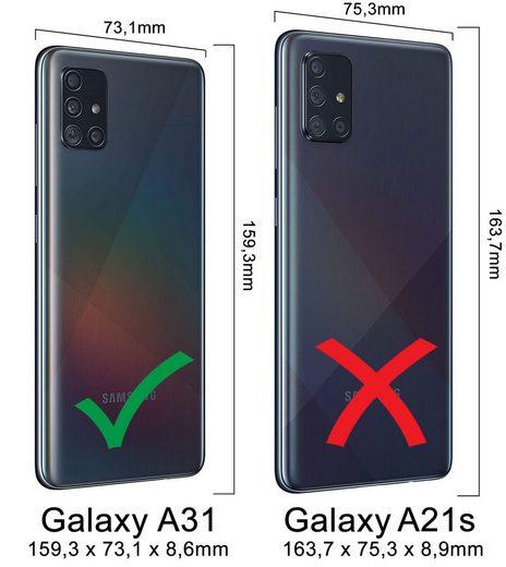 Burkley Flip Case »Samsung Galaxy A31 Leder Handyhülle Handytasche«