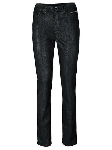 heine TIMELESS Jeans Schmuckknopf und Glanzeffekt
