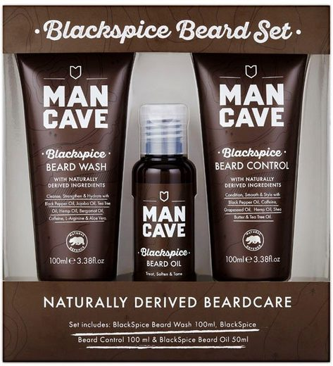 MAN CAVE Bartpflege-Set »Blackspice Beard Set«, 3-tlg.