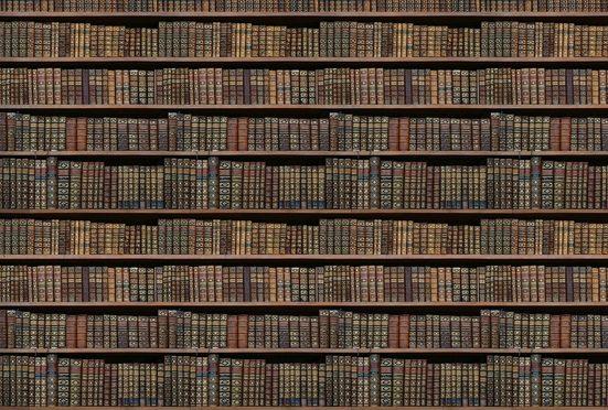 Architects Paper Fototapete »Old Books«, (Set, 4 St), Vlies, glatt