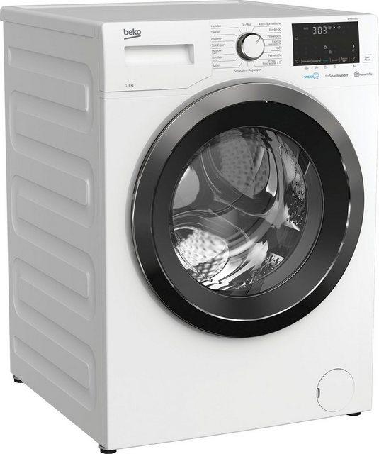 BEKO Waschmaschine WYA81643LE1, 8 kg, 1600 U min