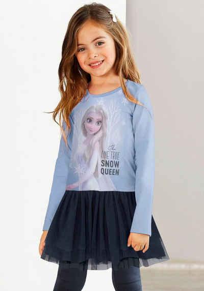 Disney Frozen Jerseykleid »FROZEN« mit zartem Tüllrock