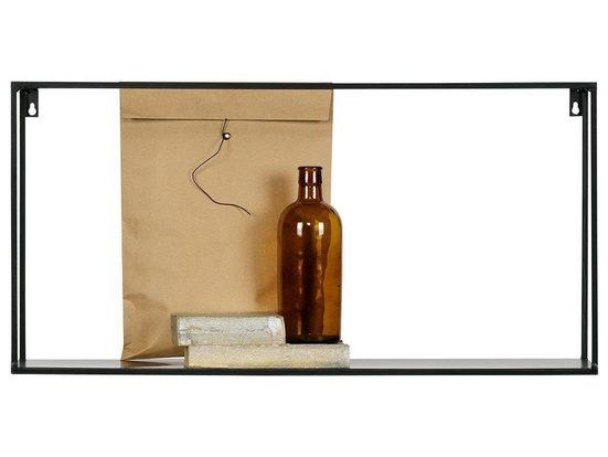 WOOOD Wandregal »Woood Meert XL Wand Regal Metall Schwarz 70cm«