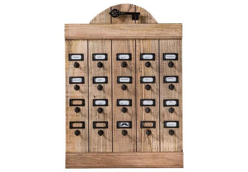 More2Home Schlüsselbrett »Key, vintage aus recyceltem Holz«