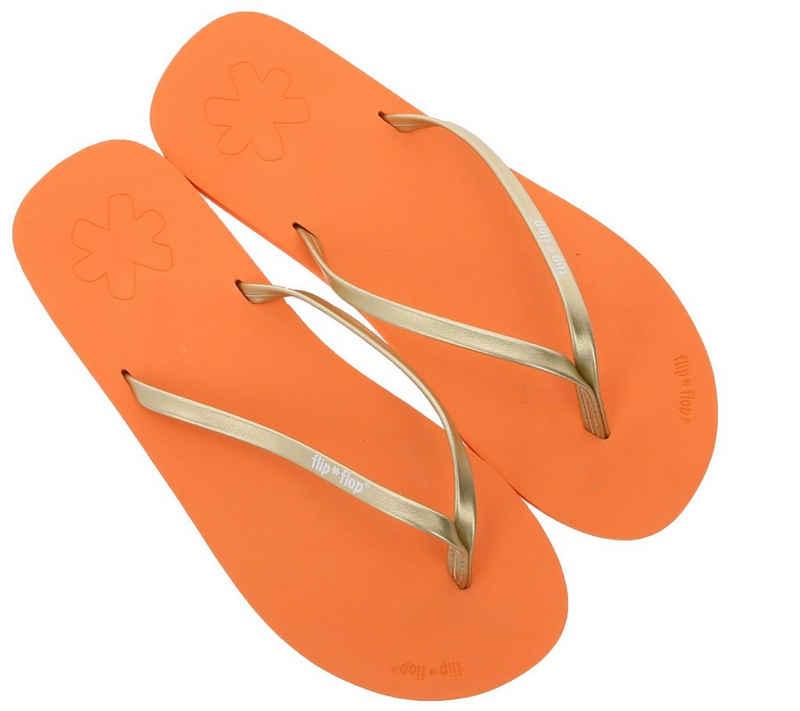 Flip Flop »flip*flop Zehentrenner stylische Damen Schlappen Sommer-Schuhe Orange« Zehentrenner