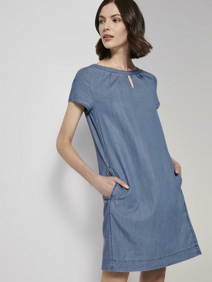 tom tailor -  Jeanskleid »Lyocell T-Shirt-Kleid im Jeanslook«