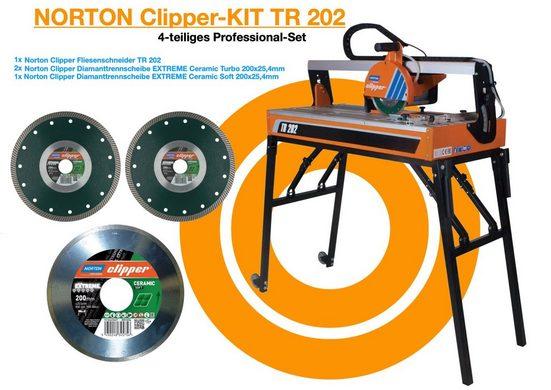 NORTON CLIPPER Fliesenschneidemaschine »Fliesenschneider TR 202 Norton Clipper Tischsäge«