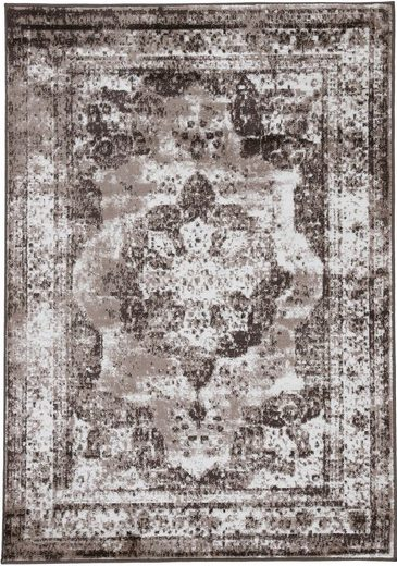 Teppich »Sol«, carpetfine, rechteckig, Höhe 8 mm, Vintage Look, Wohnzimmer