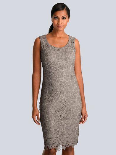 Alba Moda Kleid aus edler Spitze allover