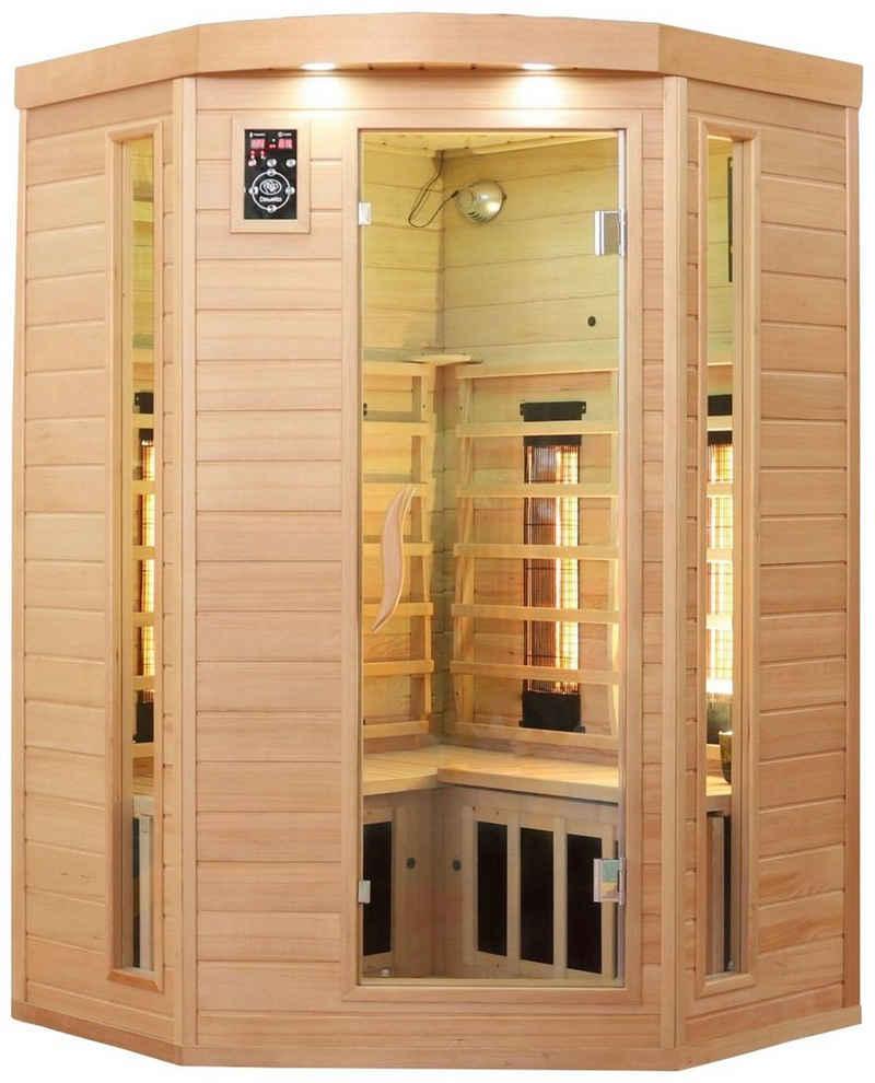 Dewello Infrarotkabine »Lakefield 3«, BxTxH: 140 x 140 x 190 cm, 50 mm, für bis zu 3 Personen