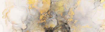 Victor (Zenith) Acrylglasbild »Abstrakte Kunst«, Abstrakt, Glasbild in gold, Bilder Wohnzimmer, Bilder Abstrakt