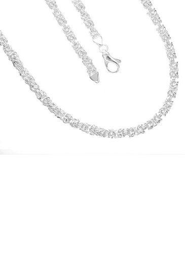 Firetti Königskette »4-fach diamaniert, poliert, quadratisch«