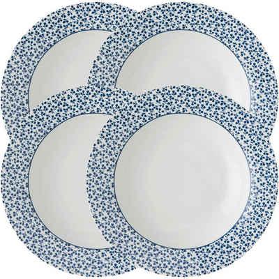 LAURA ASHLEY BLUEPRINT COLLECTABLES Suppenteller »Floris«, (4 Stück), Porzellan, tief, 22 cm