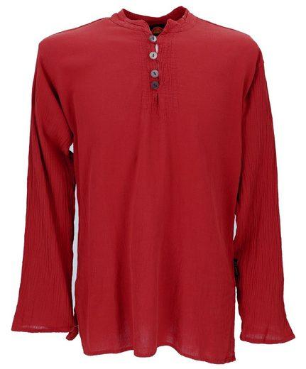 Guru-Shop Hemd & Shirt »Freizeithemd, Yoga Hemd, Schlupfhemd, Goa Hemd..«