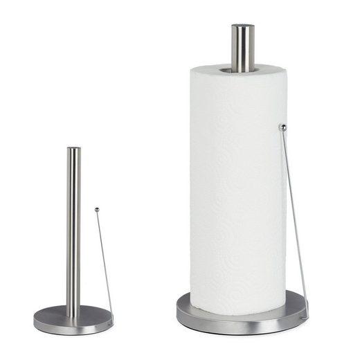 relaxdays Küchenrollenhalter »2 x Küchenrollenhalter Edelstahl stehend«
