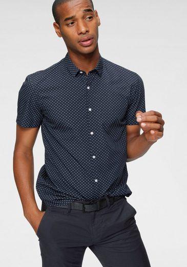 Schlussverkauf TOM TAILOR Denim Kurzarmhemd mit modischem Allover-Print